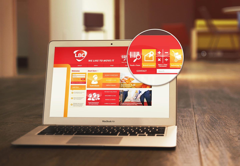 Brand Consultancy in Logistics Industry. Website design for LBC.